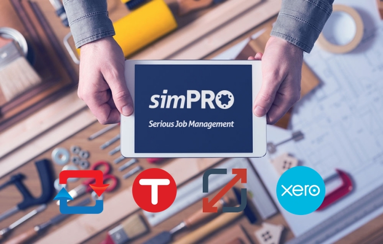 xero and simpro add ons including tsheets sync ezy and ground plan