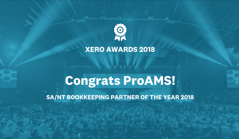 ProAMS was an Australian finalist at this year's Xero Awards for Bookkeeping Partner of the Year